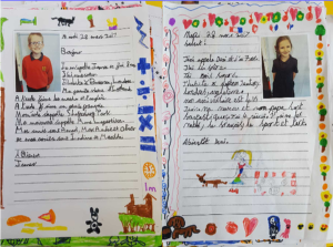 Children's French writing